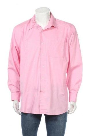 Мъжка риза Alexander Julian, Размер XL, Цвят Розов, 68% памук, 28% полиестер, 4% еластан, Цена 4,73лв.