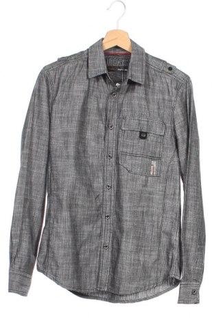 Мъжка риза Angelo Litrico, Размер M, Цвят Сив, Памук, Цена 9,45лв.
