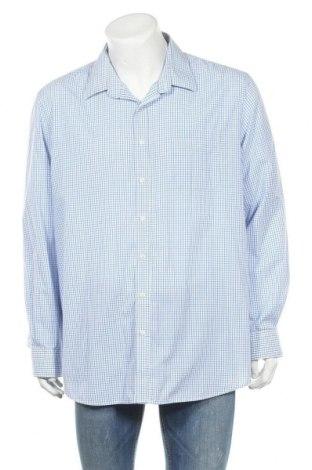 Мъжка риза Angelo Litrico, Размер XXL, Цвят Син, 65% полиестер, 35% памук, Цена 7,18лв.