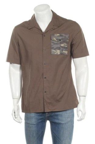 Мъжка риза Antony Morato, Размер M, Цвят Зелен, Памук, Цена 26,70лв.