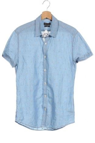 Мъжка риза Antony Morato, Размер S, Цвят Син, 55% лен, 45% памук, Цена 10,29лв.