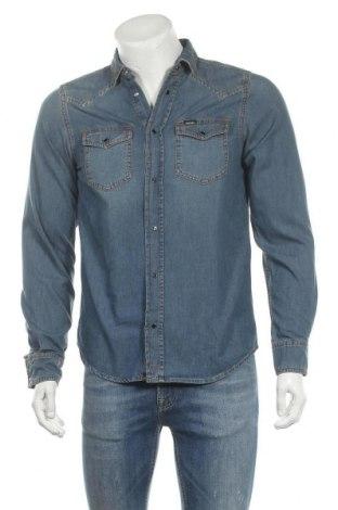 Ανδρικό πουκάμισο Diesel, Μέγεθος M, Χρώμα Μπλέ, Βαμβάκι, Τιμή 40,70€
