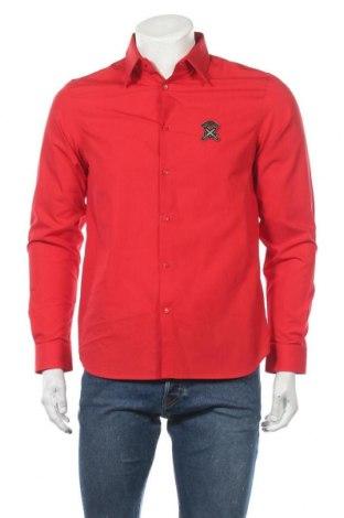 Ανδρικό πουκάμισο Diesel Black Gold, Μέγεθος M, Χρώμα Κόκκινο, Βαμβάκι, Τιμή 62,40€