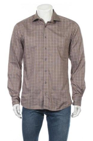 Мъжка риза Eterna, Размер M, Цвят Кафяв, Памук, Цена 9,82лв.
