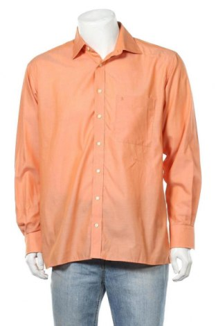 Мъжка риза Eterna, Размер L, Цвят Оранжев, Памук, Цена 4,30лв.