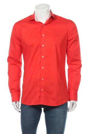 Мъжка риза Eterna, Размер M, Цвят Червен, 97% памук, 3% еластан, Цена 5,67лв.
