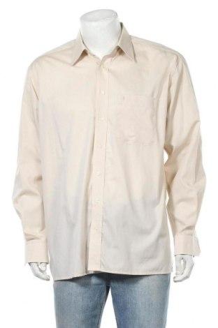 Мъжка риза Eterna, Размер L, Цвят Бежов, Памук, Цена 4,16лв.