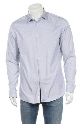 Мъжка риза Faconnable, Размер M, Цвят Бял, Памук, Цена 76,32лв.