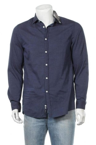 Мъжка риза Faconnable, Размер M, Цвят Многоцветен, Памук, Цена 37,25лв.