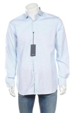 Ανδρικό πουκάμισο Faconnable, Μέγεθος M, Χρώμα Μπλέ, Βαμβάκι, Τιμή 17,42€