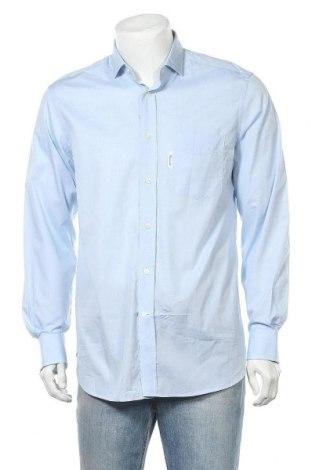 Мъжка риза Faconnable, Размер M, Цвят Син, Памук, Цена 37,25лв.