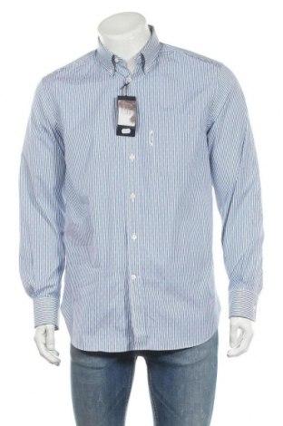 Мъжка риза Faconnable, Размер M, Цвят Бял, Памук, Цена 71,52лв.