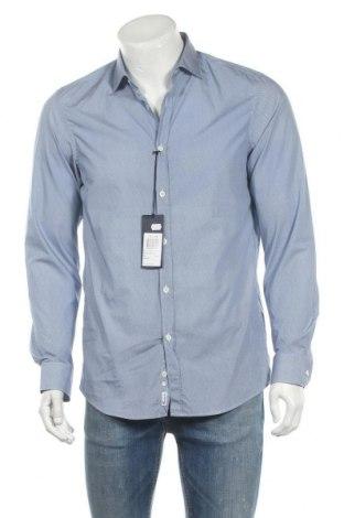 Мъжка риза Faconnable, Размер M, Цвят Син, Памук, Цена 76,32лв.