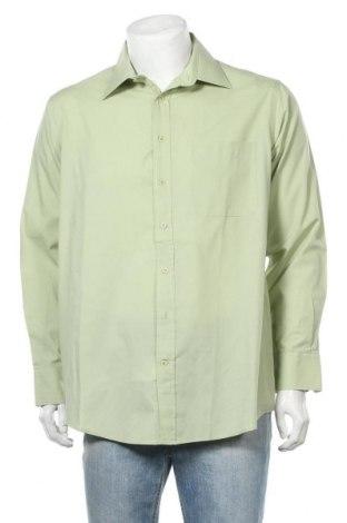 Мъжка риза Kingfield, Размер L, Цвят Зелен, 55% памук, 45% полиестер, Цена 14,96лв.