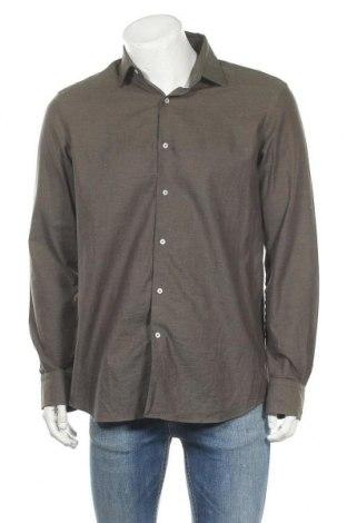Ανδρικό πουκάμισο Massimo Dutti, Μέγεθος L, Χρώμα Πράσινο, Βαμβάκι, Τιμή 14,49€
