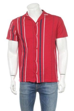 Мъжка риза Pull&Bear, Размер M, Цвят Червен, 52% полиестер, 48% памук, Цена 12,20лв.