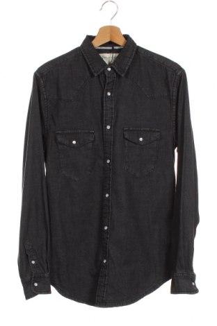 Ανδρικό πουκάμισο Stradivarius, Μέγεθος S, Χρώμα Μαύρο, Βαμβάκι, Τιμή 21,58€