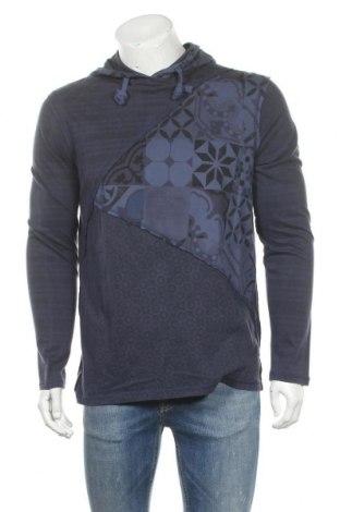 Мъжка спортна блуза Desigual, Размер M, Цвят Син, Памук, Цена 53,40лв.