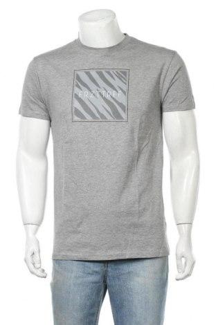 Мъжка тениска, Размер M, Цвят Сив, 85% памук, 15% вискоза, Цена 15,12лв.
