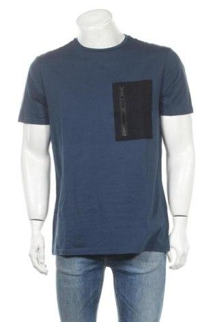 Мъжка тениска Antony Morato, Размер XL, Цвят Син, Памук, Цена 30,24лв.