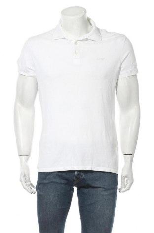 Мъжка тениска Armani Jeans, Размер L, Цвят Бял, Памук, Цена 49,98лв.