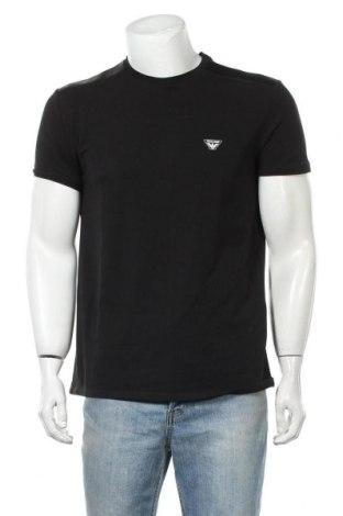 Мъжка тениска Armani Jeans, Размер XXL, Цвят Черен, 94% памук, 6% еластан, Цена 53,55лв.