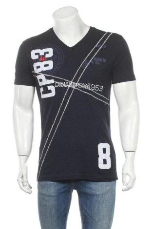 Мъжка тениска Canadian Peak, Размер L, Цвят Син, Памук, Цена 21,74лв.