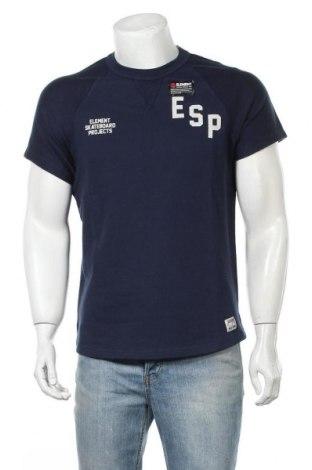 Ανδρικό t-shirt Element, Μέγεθος S, Χρώμα Μπλέ, Βαμβάκι, Τιμή 11,75€