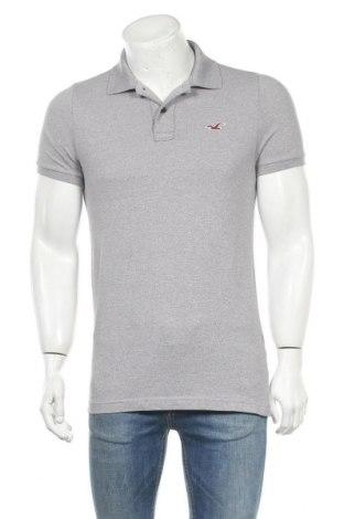 Ανδρικό t-shirt Hollister, Μέγεθος M, Χρώμα Γκρί, 59% βαμβάκι, 39% πολυεστέρας, 2% ελαστάνη, Τιμή 11,69€