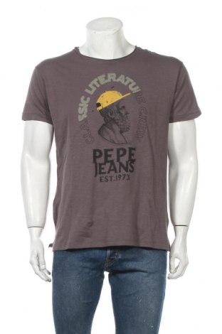 Ανδρικό t-shirt Pepe Jeans, Μέγεθος M, Χρώμα Καφέ, Βαμβάκι, Τιμή 29,73€