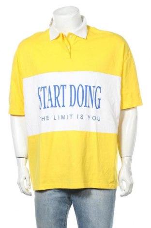 Ανδρικό t-shirt Pull&Bear, Μέγεθος S, Χρώμα Κίτρινο, Βαμβάκι, Τιμή 11,11€