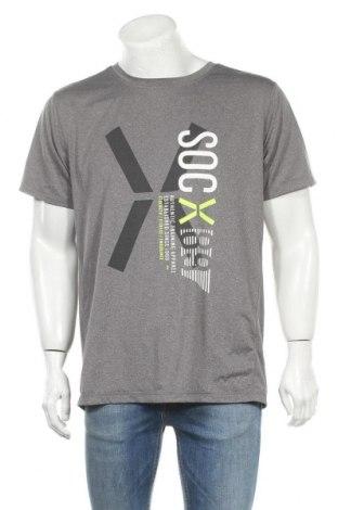 Мъжка тениска SOC, Размер XL, Цвят Сив, 94% полиестер, 6% еластан, Цена 11,34лв.