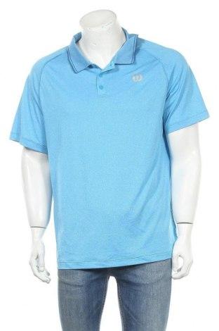Мъжка тениска Wilson, Размер XL, Цвят Син, 94% полиестер, 6% полиамид, Цена 15,17лв.