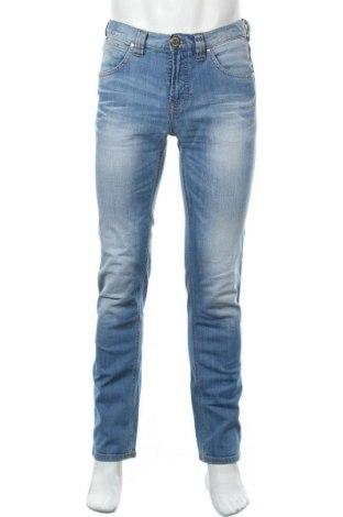 Мъжки дънки Authentic Denim, Размер M, Цвят Син, 98% памук, 2% еластан, Цена 22,68лв.