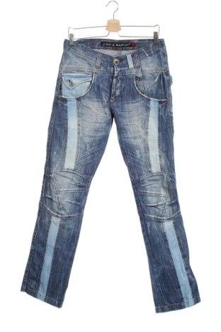 Мъжки дънки Cipo & Baxx, Размер M, Цвят Син, Памук, Цена 20,48лв.