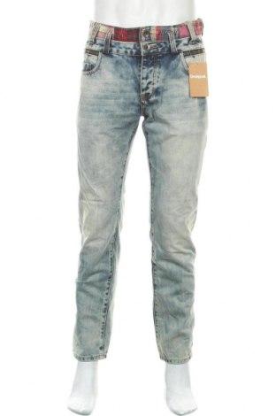 Мъжки дънки Desigual, Размер M, Цвят Син, 65% полиестер, 35% памук, Цена 111,75лв.