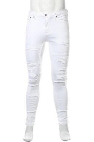 Мъжки дънки Topman, Размер M, Цвят Бял, 97% памук, 3% еластан, Цена 24,09лв.