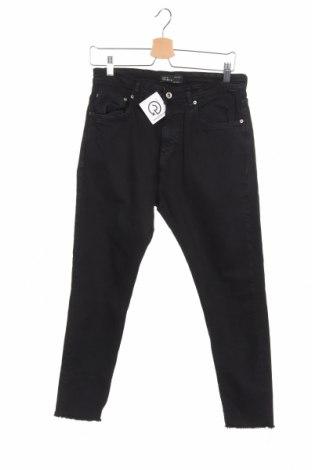 Мъжки дънки Zara Man, Размер M, Цвят Черен, 97% памук, 2% еластан, Цена 16,65лв.