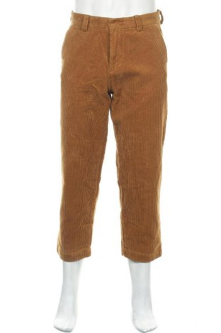 Ανδρικό κοτλέ παντελόνι Pull&Bear, Μέγεθος S, Χρώμα Καφέ, Βαμβάκι, Τιμή 22,02€