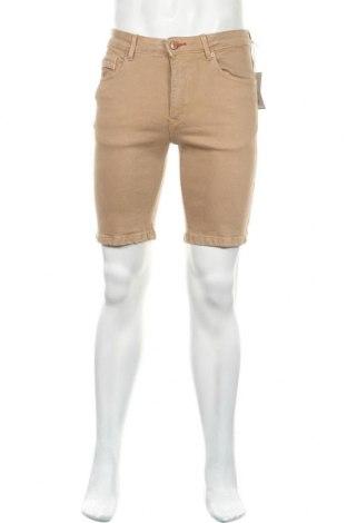 Мъжки къс панталон Cortefiel, Размер M, Цвят Кафяв, 98% памук, 2% еластан, Цена 35,99лв.
