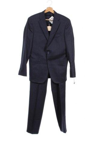 Costum de bărbați Scalpers, Mărime M, Culoare Albastru, Lână, Preț 289,54 Lei
