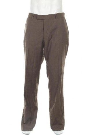 Pánské kalhoty  Boss, Velikost L, Barva Hnědá, Vlna, Cena  414,00Kč