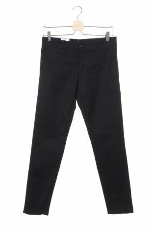 Мъжки панталон Carhartt, Размер S, Цвят Черен, 46% памук, 16% полиестер, 38% други нишки, Цена 70,40лв.