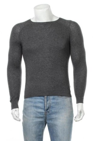 Мъжки пуловер Perfect Cashmere, Размер S, Цвят Сив, Кашмир, Цена 37,80лв.