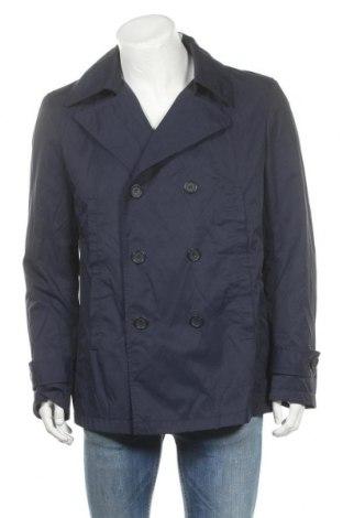 Мъжки шлифер Adolfo Dominguez, Размер XL, Цвят Син, 55% памук, 45% полиамид, Цена 32,80лв.