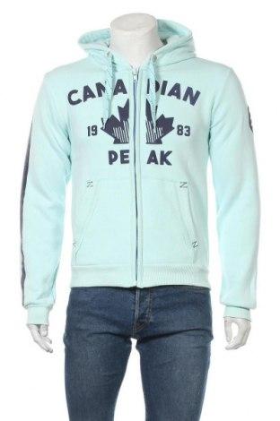Мъжки суичър Canadian Peak, Размер M, Цвят Зелен, 65% памук, 35% полиестер, Цена 56,07лв.