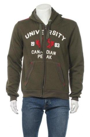 Мъжки суичър Canadian Peak, Размер L, Цвят Зелен, 65% памук, 35% полиестер, Цена 61,41лв.
