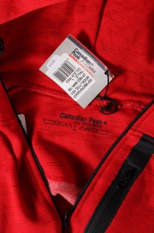 Мъжки суичър Canadian Peak, Размер L, Цвят Червен, 72% памук, 28% полиестер, Цена 53,40лв.