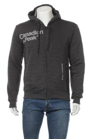 Мъжки суичър Canadian Peak, Размер M, Цвят Сив, 65% памук, 35% полиестер, Цена 52,51лв.