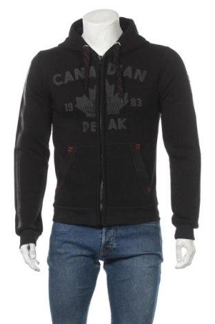 Hanorac de bărbați Canadian Peak, Mărime M, Culoare Negru, 65% bumbac, 35% poliester, Preț 122,96 Lei